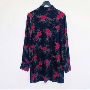 & Other Stories Red Rose Floral Shift Dress Sz 4